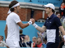 Britains Andy Murray Return