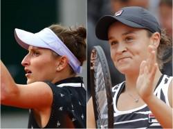 Ashliegh Barty And Marketa Vondrosova In Final