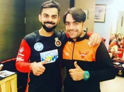 Afgan Teammate Stole Special Bat Given By Kohli Reveals Rashid Khan