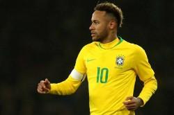 Brazil Player Neymar Arrives At Police Station