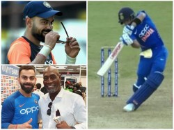 Indian Captain Virat Kohli S Lofted Cover Drive Surprises Windies Legend Richards