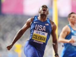 Christian Coleman Win 100m World Title In Doha World Championship