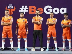 Indian Captain Virat Kohli Unveils New Home Jersey Of Fc Goa