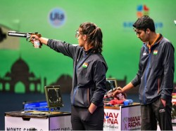 Manu Bhaker Saurabh Chaudhary Team Win Gold In Issf World Cup