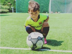 Lionel Messi S Son Goal And Celebrates Goes Viral