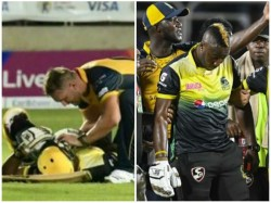 Windies Star Player Russel S Scans Clear After Blow To Helmet