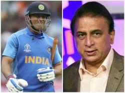 Former Captain Ms Dhoni S Time Is Up Says Sunil Gavaskar