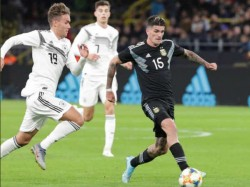 Germany Argentina Classic Football Match Ends In Draw