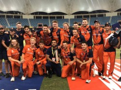 Netherlands Wins Icc T20 World Cup Qualifiers Trophy