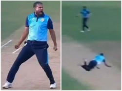 Former Indian Allrounder Yusuf Pathan Takes A Screamer In Syed Mushtaq Ali Trophy