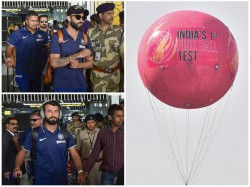 Indian Team Arrives In Kolkata For Historic Day Night Test