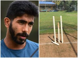 Indian Pacer Bumrah Shares Photo Of Broken Stumps In Practice