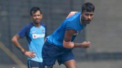 Hardik Pandya Bowls At Nets With Indian Team