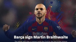 Barcelona Sign With Martin Braithwaite