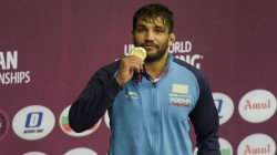 Asian Wrestling Championships Sunil Kumar Wins Gold