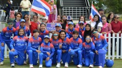 Thailand Women Cricketers Dance During Rain Break
