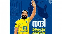 Kerala Blasters Retire Sandesh Jhingan S Number 21 Jersey After He Left The Club