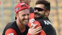 Waiting For First Little Kohli Says Rcb Teamamte Ab De Villiers