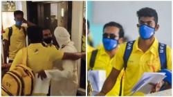 Ipl 2020 Csk Players Seen Hugging A Man At Airport Video Viral