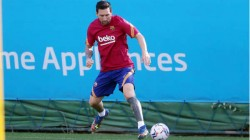 Lionel Messi Trains With Barcelona For The First Time After Failed Attempt To Leave The Club