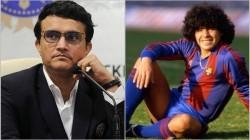 Bcci President Sourav Ganguly Pays Emotional Tribute To Diego Maradona