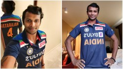 India Australia Series T Natarajan Shares Selfies In New Indian Jersey