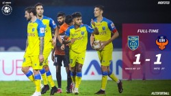 Isl 2020 21 Kerala Blasters Fc Goa Match Ends In A Draw Kp Rahul Scores For Kbfc