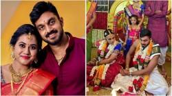 Indian Cricket Player Vijay Shankar And Vaishali Visweswaran Marriage Stills Goes Viral
