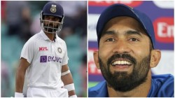 Ind Vs Eng Test Dinesh Karthik Says When The Team In Trouble Ajinkya Rahane Always Puts His Hand Up