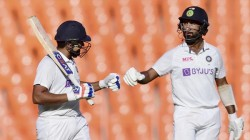 Ind Vs Eng Test India Eyes Lead On Second Day Rohit Sharma And Cheteshwar Pujara On Crease
