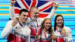 Olympics 2021 Britain Creates History Smashes World Record In 4 100 Metre Mixed Medley Relay