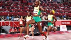 Olympics 2021 Jamaica S Elanie Thompson Herah Wins Women S 100 Metre Race