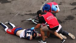 Olympics 2021 Us Cyclist Connor Fields Suffered Brain Bleeding During A Horror Crash In A Match