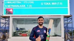 Usa Player Jaskaran Malhotra Smashes Six Sixes In An Over First Odi Centurion For Usa